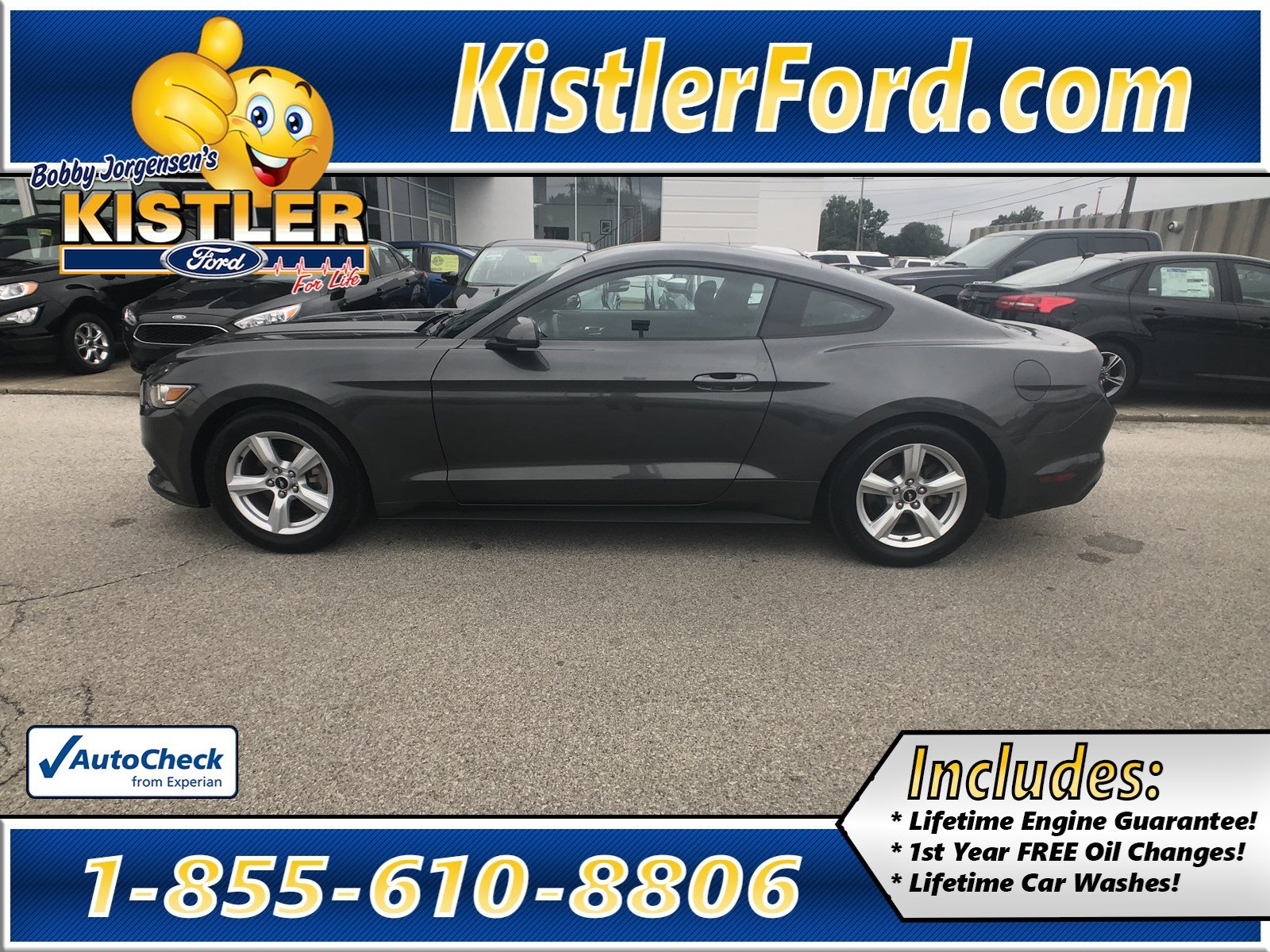 Pre owned 2016 ford mustang v6