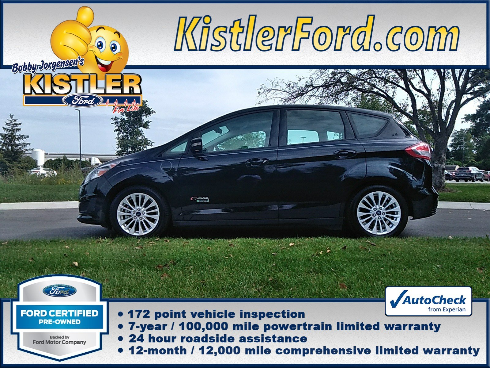 Ford Certified Pre Owned >> Certified Pre Owned 2017 Ford C Max Energi Se Fwd Hatchback
