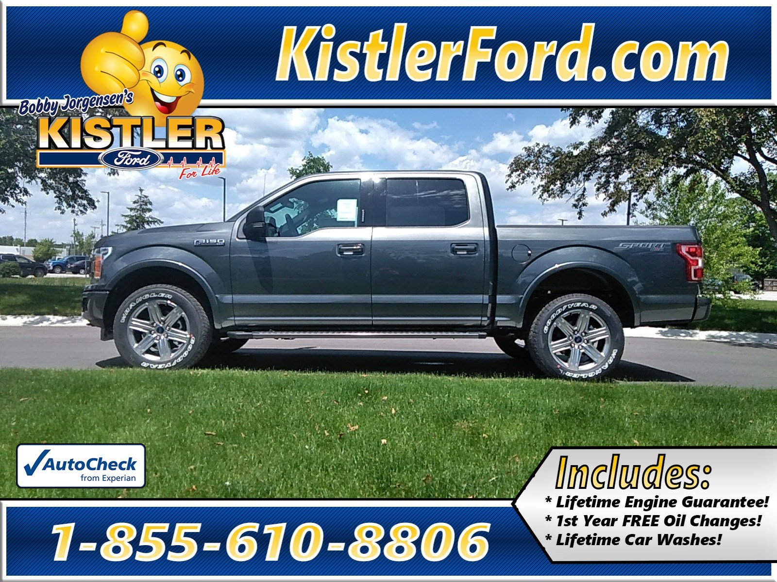 New 2019 Ford F-150 Supercrew XLT Sport With Navigation & 4WD