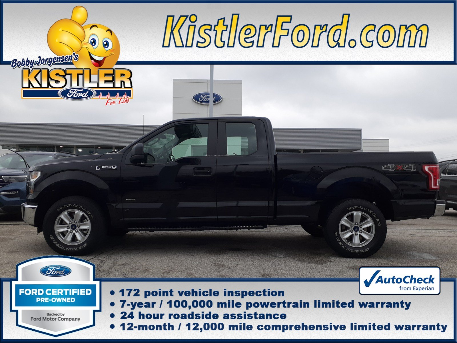 Ford Certified Pre Owned >> Certified Pre Owned 2016 Ford F 150 Xl 4x4 Supercab 4wd