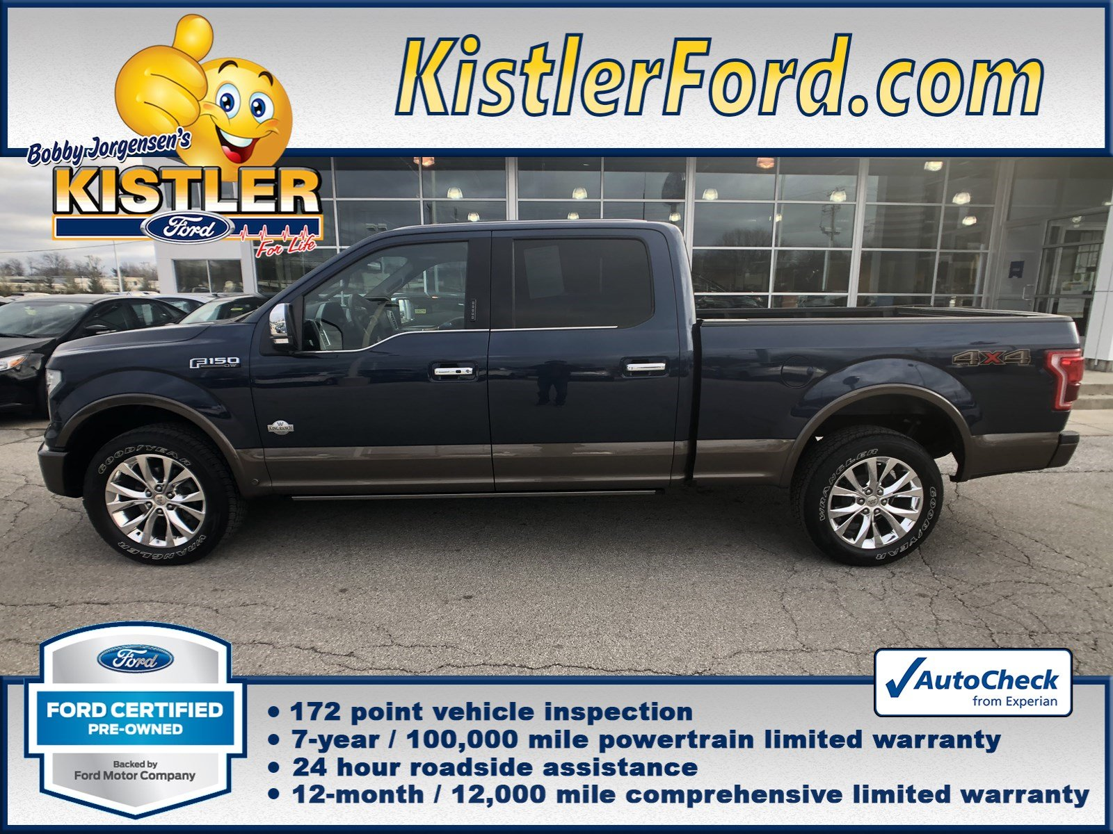 certified pre owned 2016 ford f 150 king ranch crew cab pickup in toledo 18208 kistler ford. Black Bedroom Furniture Sets. Home Design Ideas