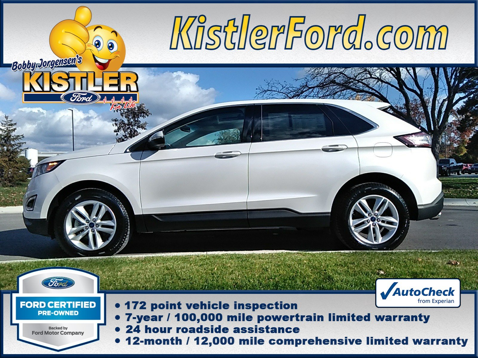 Ford Certified Pre Owned >> Certified Pre Owned 2017 Ford Edge Sel Fwd Sport Utility