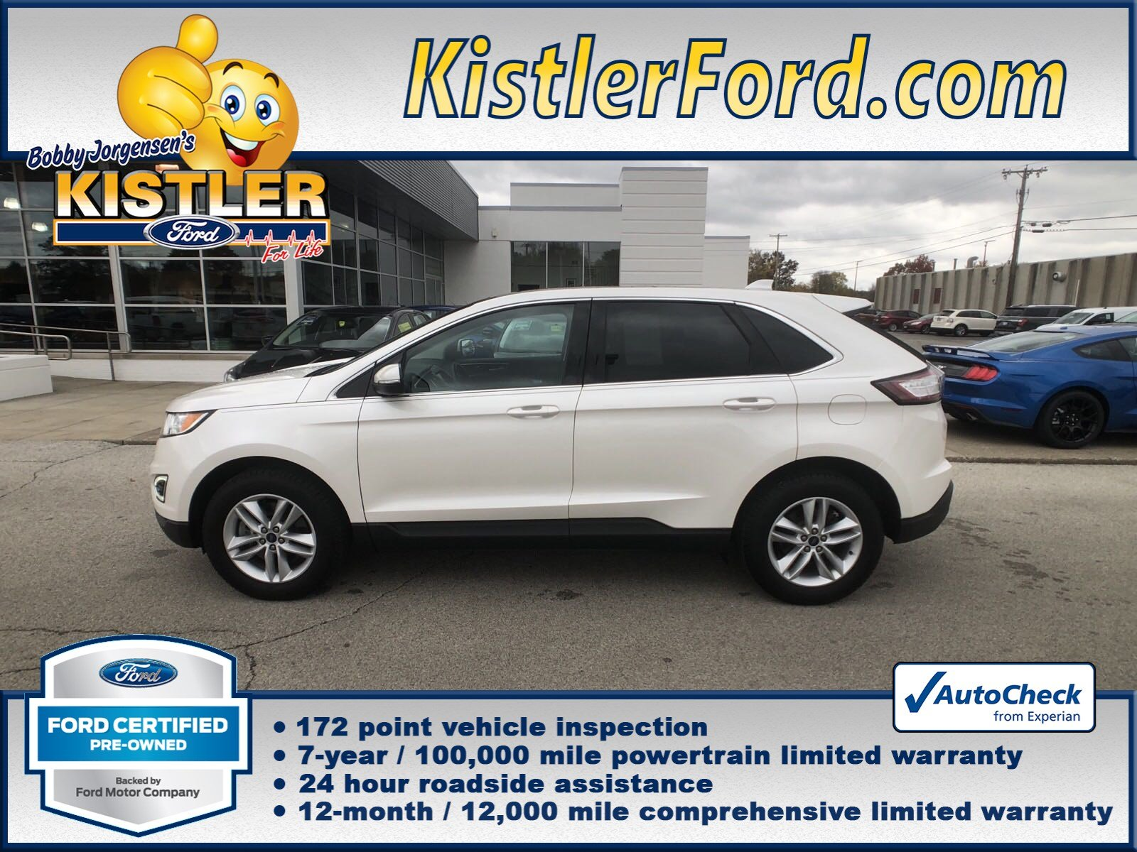 Certified pre owned 2015 ford edge sel