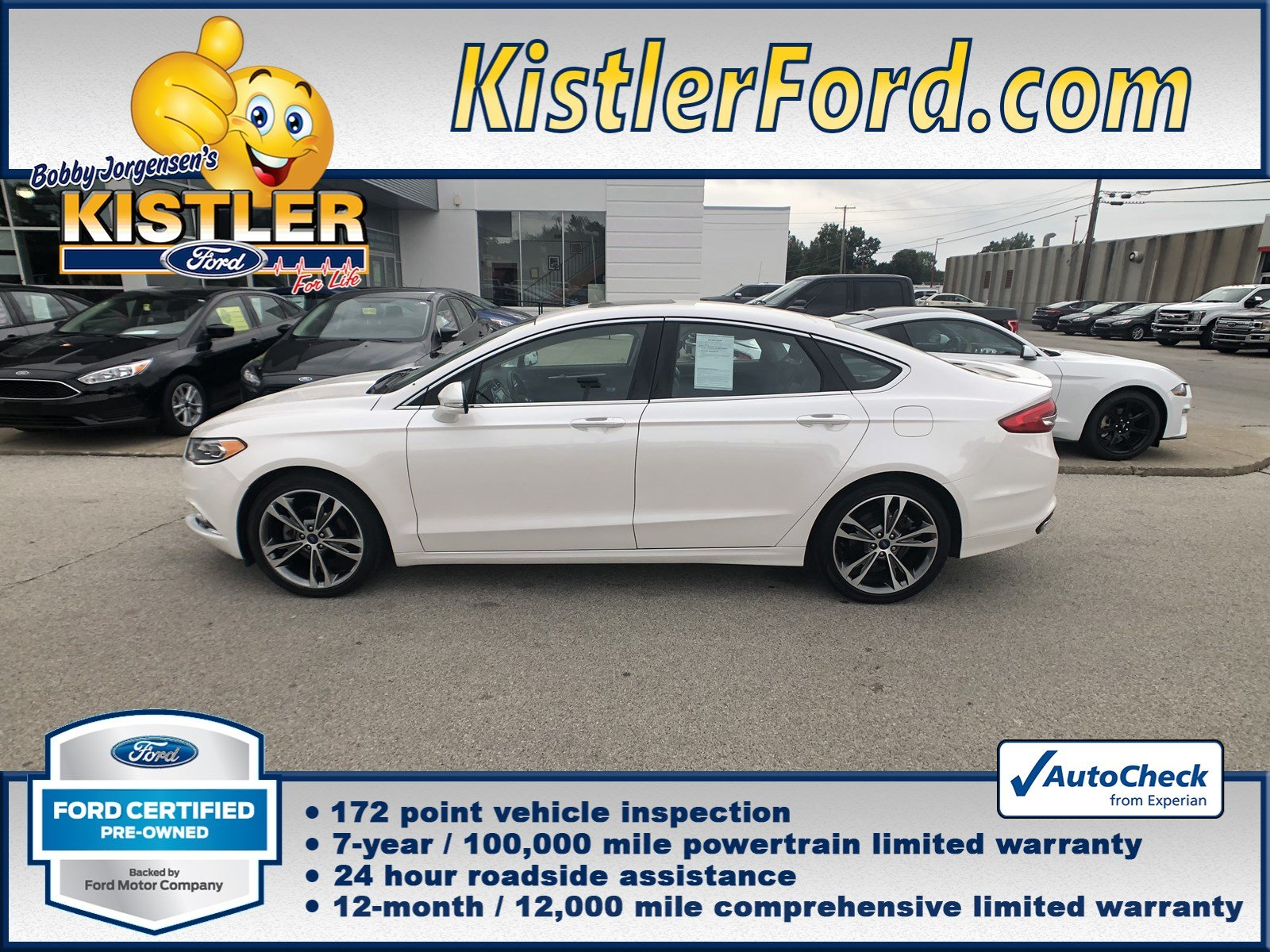 Certified pre owned 2017 ford fusion titanium