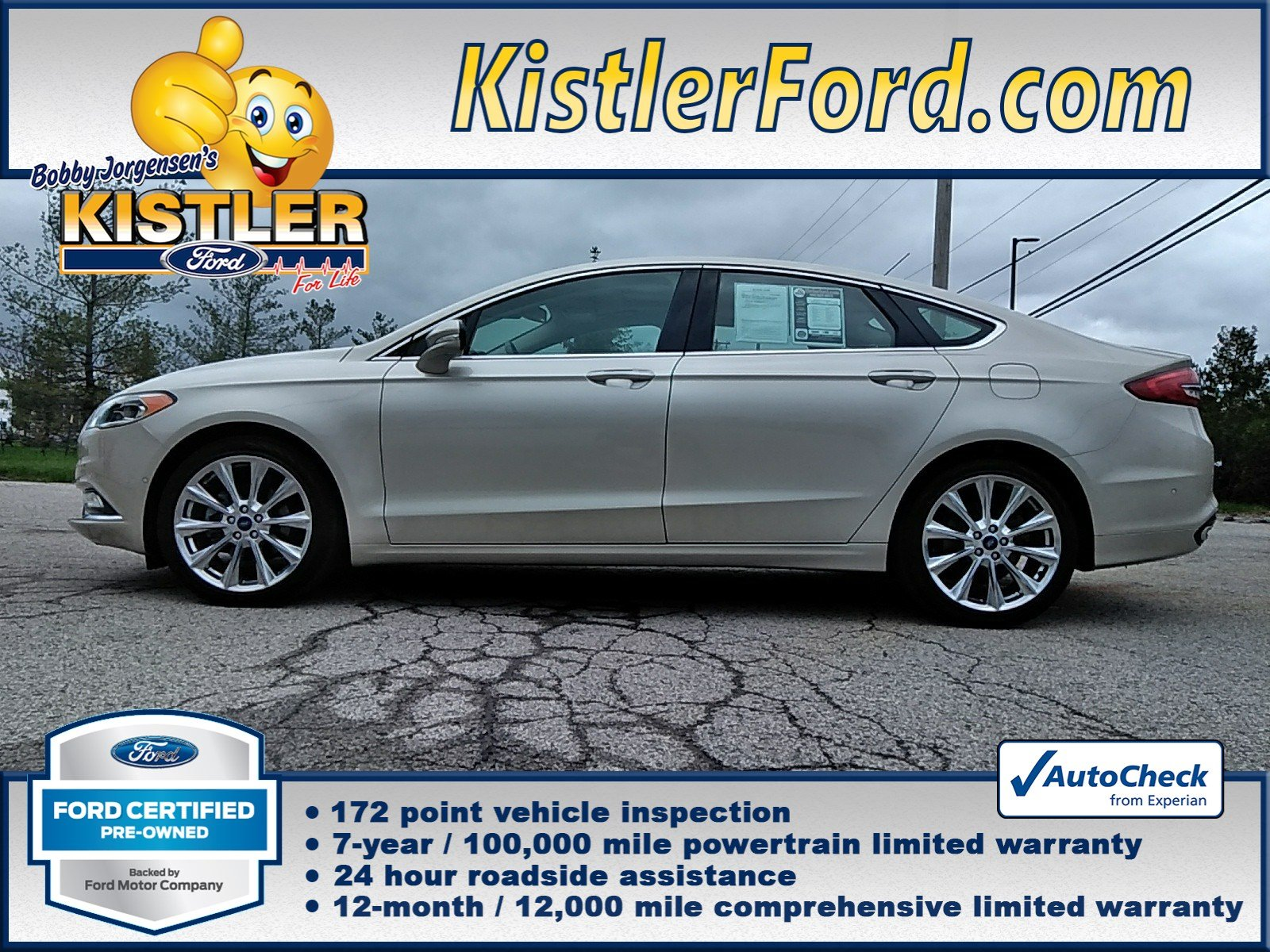 Ford Certified Pre Owned >> Certified Pre Owned 2017 Ford Fusion Platinum 4dr Car In Toledo